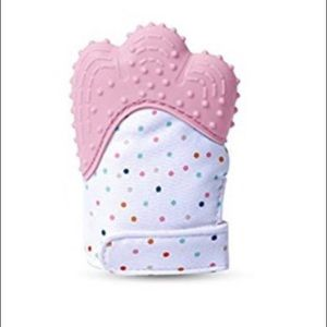 Other - Baby Pink NEW Crinkle Munch Mitt Teether Textured